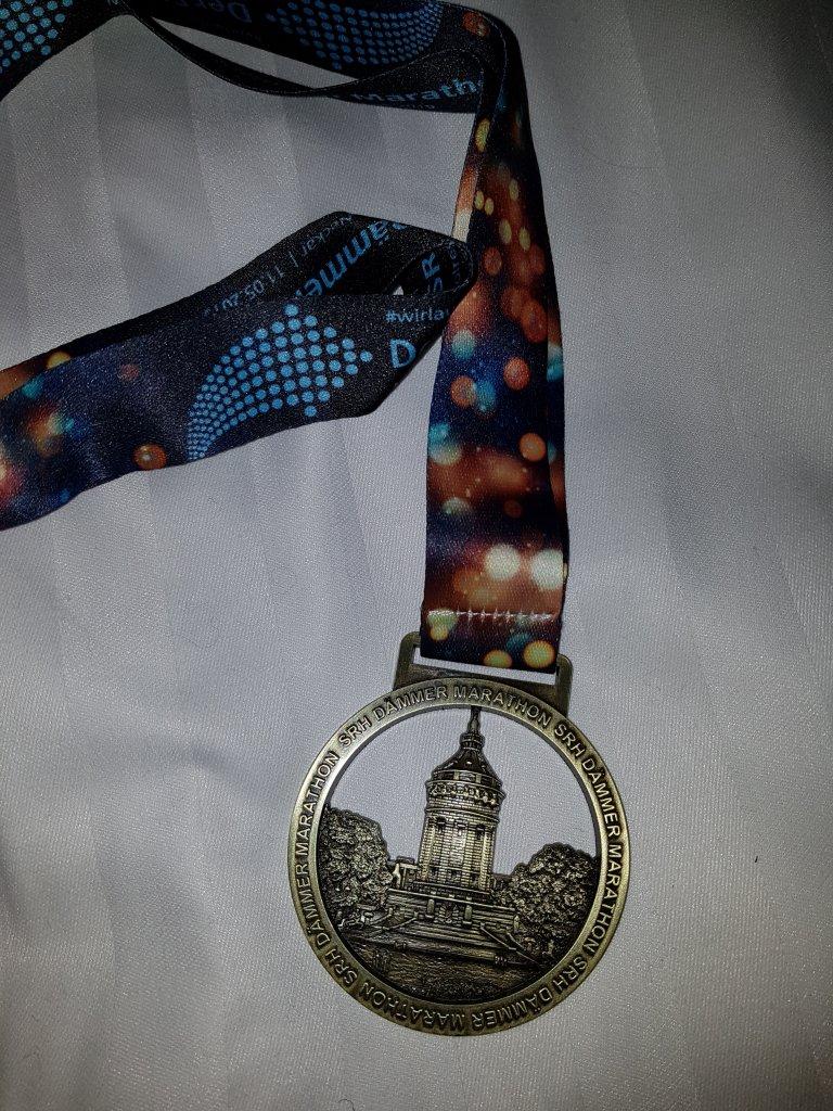Medaille SRH Dämmermarathon Mannheim