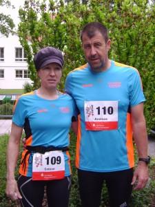 Öhringer Stadtlauf - Sabine Zipf und Andreas Finkenberge