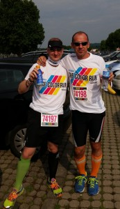 Ronny Grosser und Armin Zipf beim THE COLOR RUN 2014