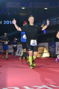 Steffens Zieleinlauf beim 33. BMW Frankfurt Marathon