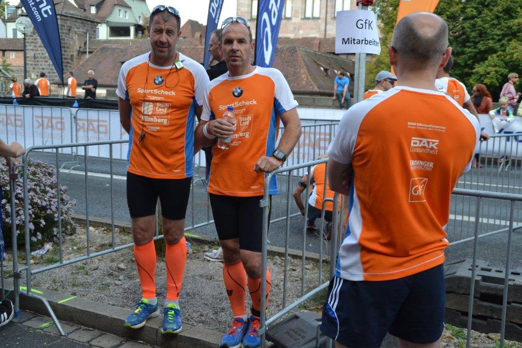 Andreas Finkenberger und Armin Zipf vor dem Start