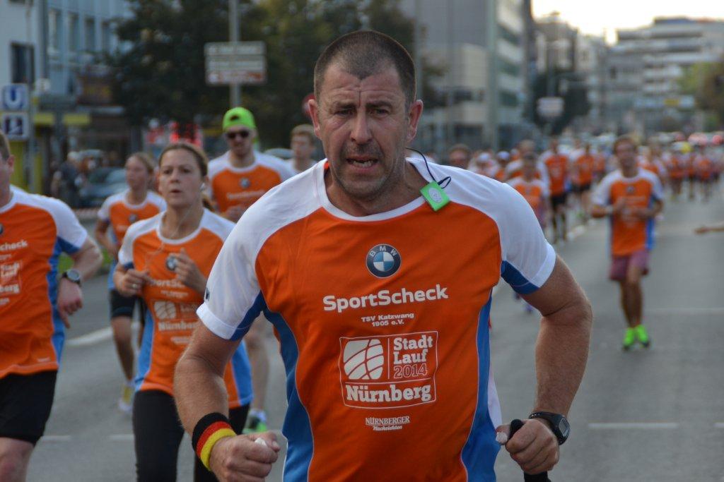 Andreas Finkenberger auf der Halbmarathonstrecke Stadtlauf Nürnberg 2014