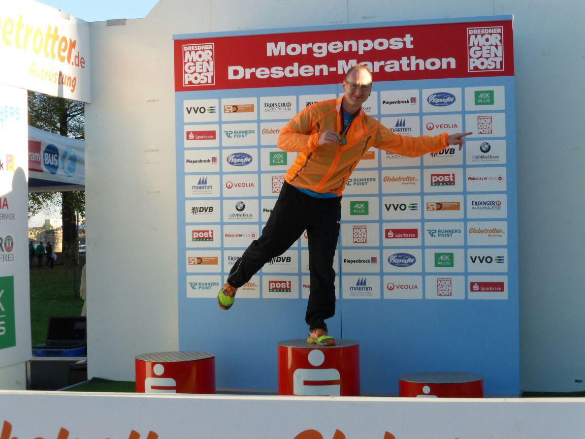 Ronny Grosser beim 16. Morgenpost Dresden Marathon