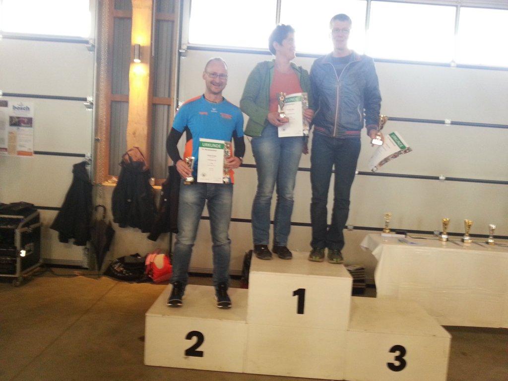 Siegerehrung Ronny Grosser AK Platz 2 - 31. Muswiesenlauf 2014