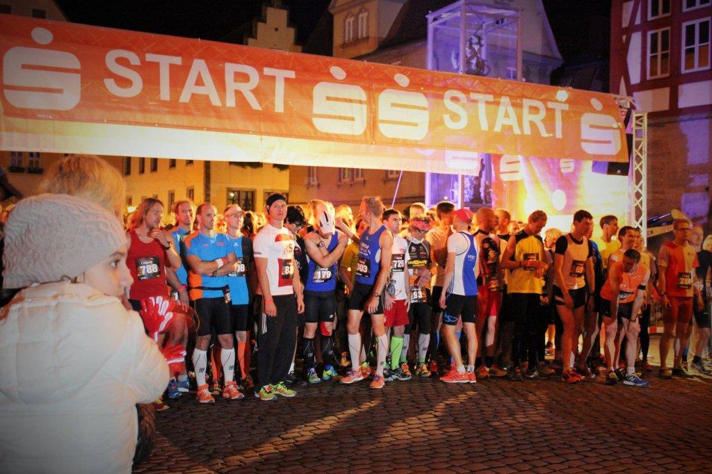 Startbereich 8. Rothenburger Lichterlauf