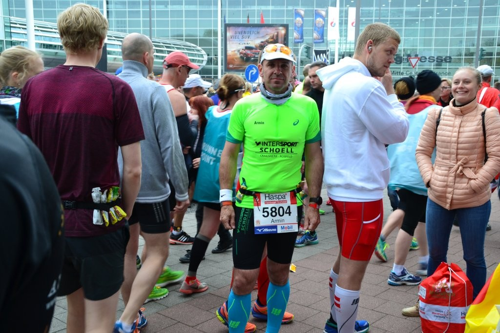 Armin kurz vor dem Start zum 30. Haspa Marathon Hamburg