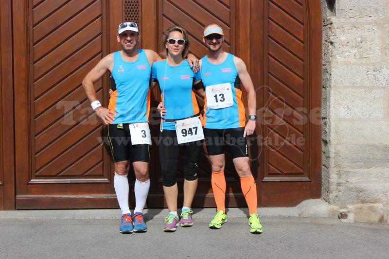 Armin, Kathrin und Ronny starteten beim 7. Rothenburger Halbmarathon.