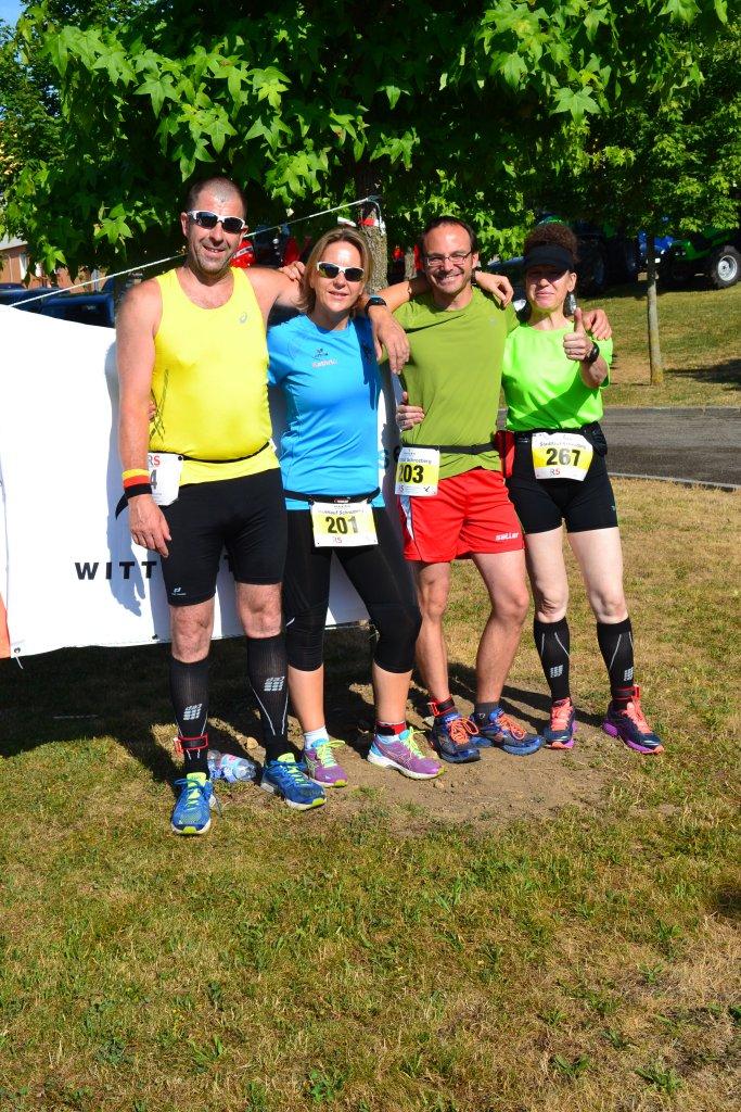 steide-runners kurz vor dem Start des 13. HAKRO Stadtlauf Schrozberg