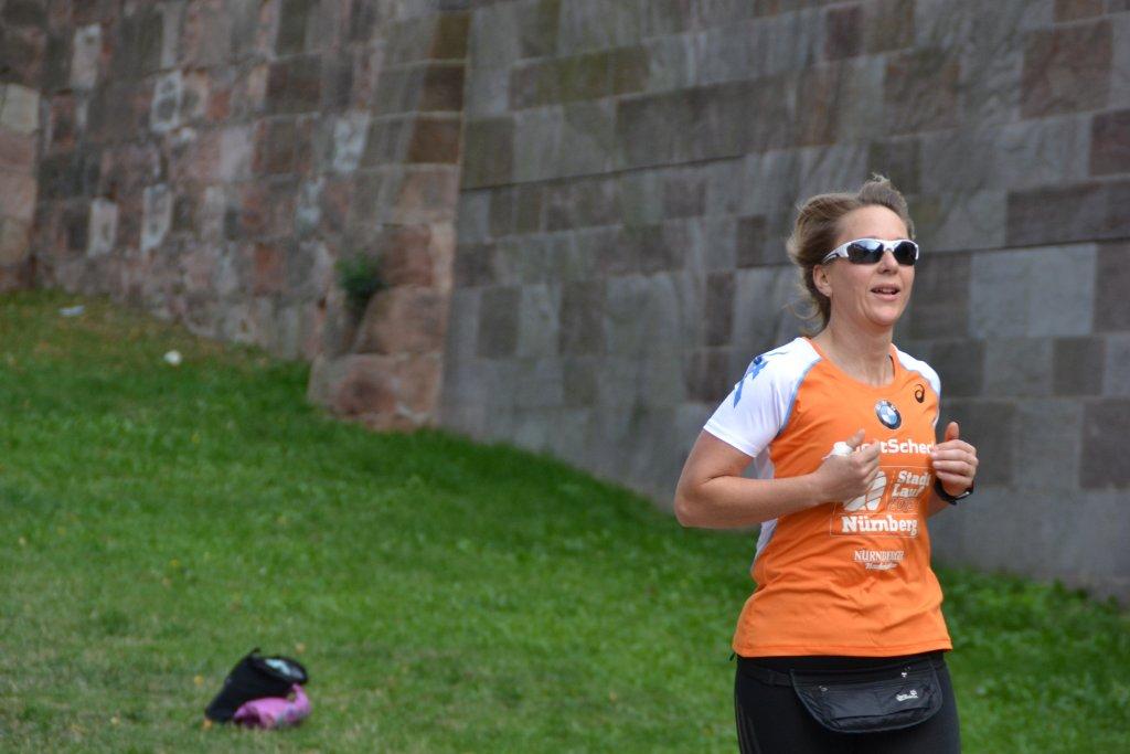 Kathrin beim 20. SportScheck Stadtlauf Nürnberg