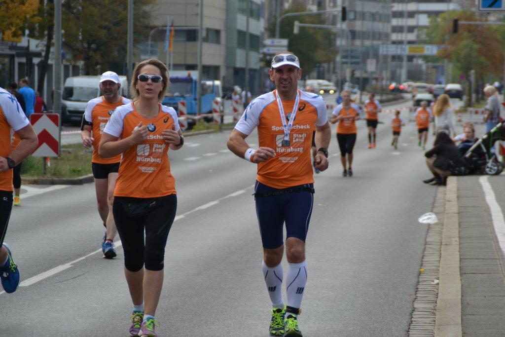 Kathrin und Armin beim 20. SportScheck Stadtlauf Nürnberg