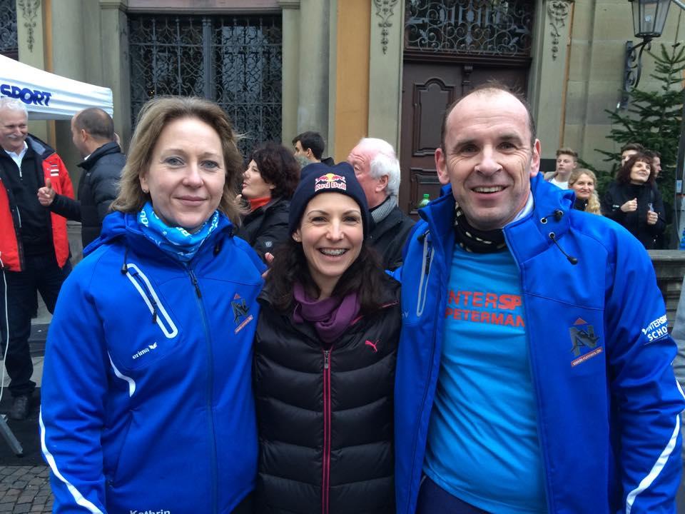 Kathrin, Sabrina Mockenhaupt (Mocki) und Armin