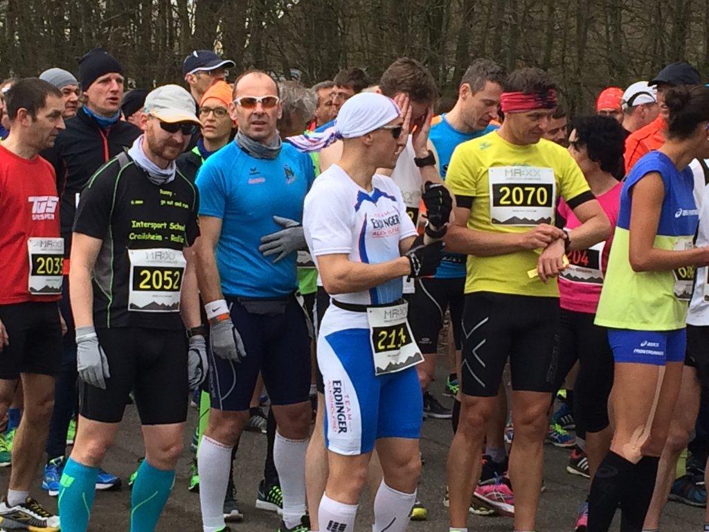 Ronny, Armin und Kay-Uwe an der Startlinie des 37. Osterlauf
