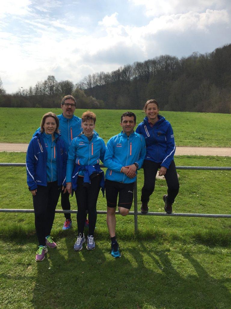 Kathrin, Michael, Sabine, Halard und Heike beim WLV Lehrgang in Niederstetten