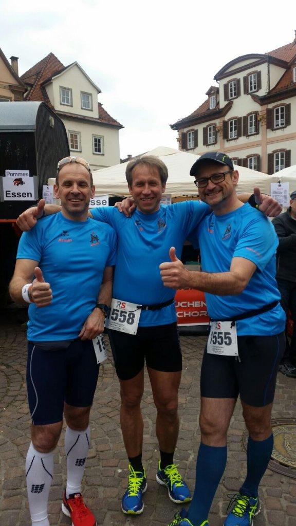 Armin, Georg und Roland beim 11. Stadtlauf Bad Mergentheim