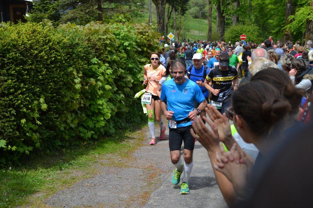 René auf der Strecke des Rennsteig Marathon