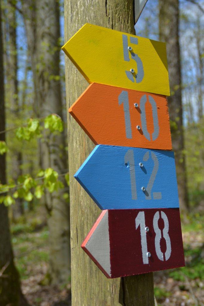Wegweiser Lauf- und Walkingstrecken