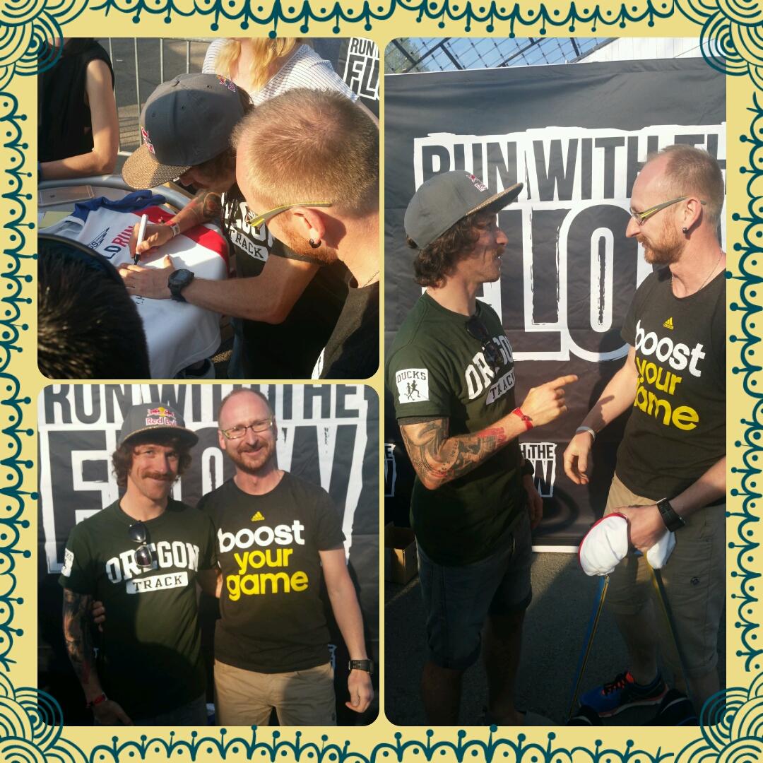 Ronny bei Florian Neuschwander einen der Besten deutschen Ultramarathonläufer