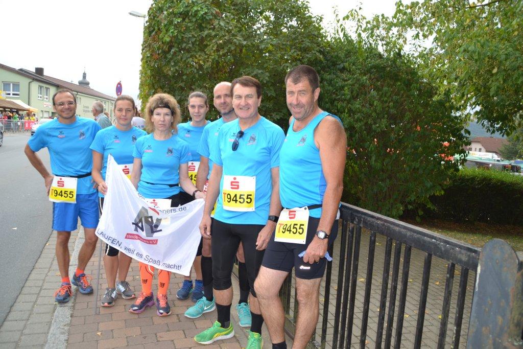 Team 2 der steide-runners beim 26. Messelauf in Lauda-Königshofen