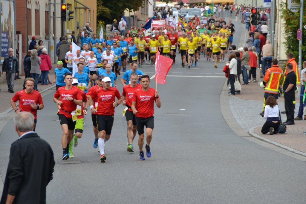 Team 1 der steide-runners beim 26. Messelauf