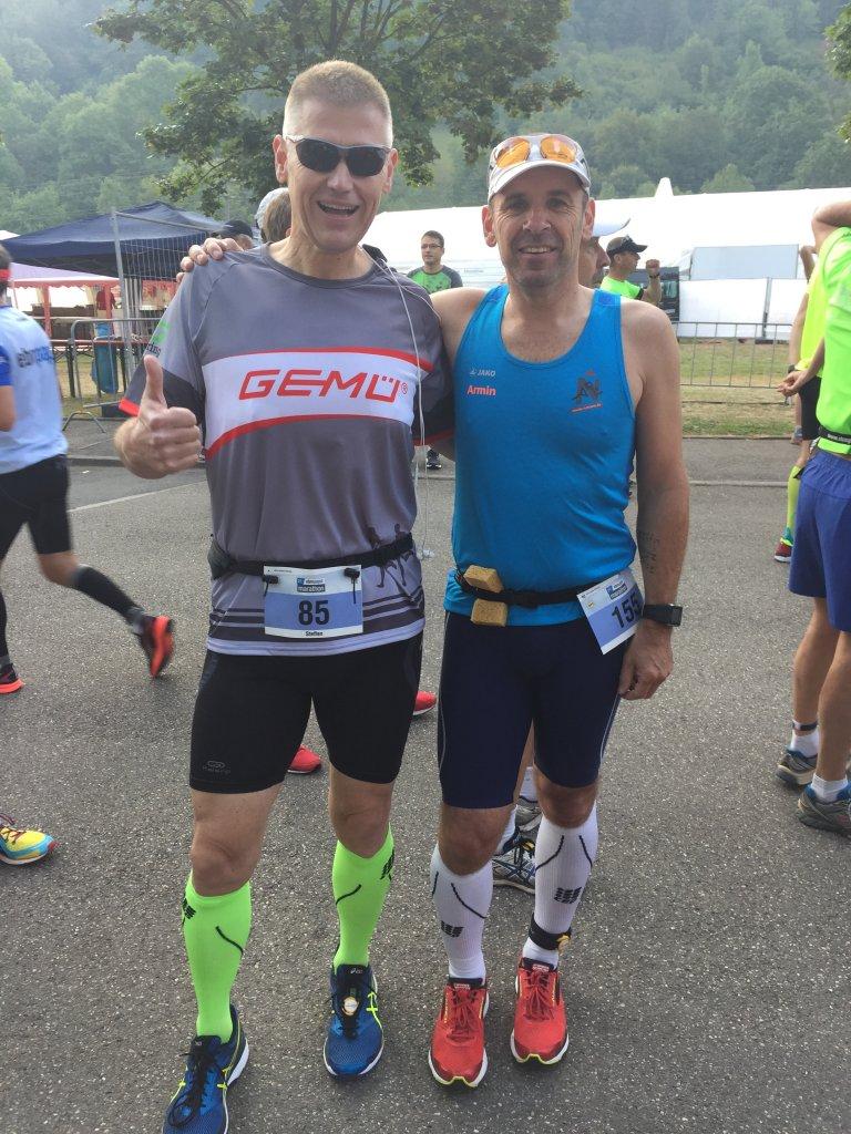 Steffen und Armin kurz vor dem Marathon Start