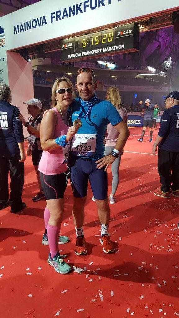 Kathrin und Armin an der Ziellinie