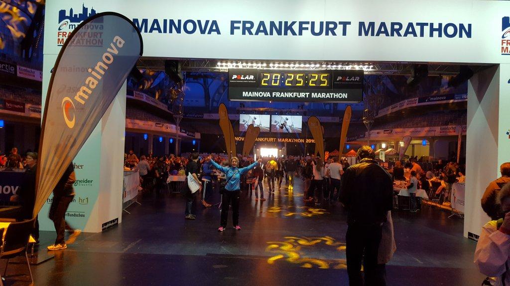Messehalle Frankfurt - Ziel Marathon
