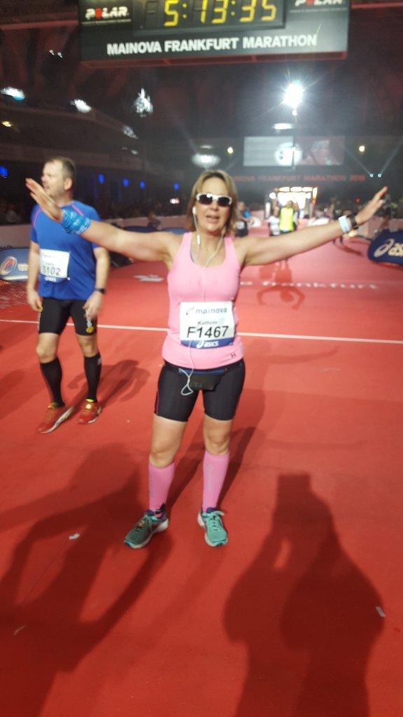 Kathrin hat es geschafft! 42,195km!