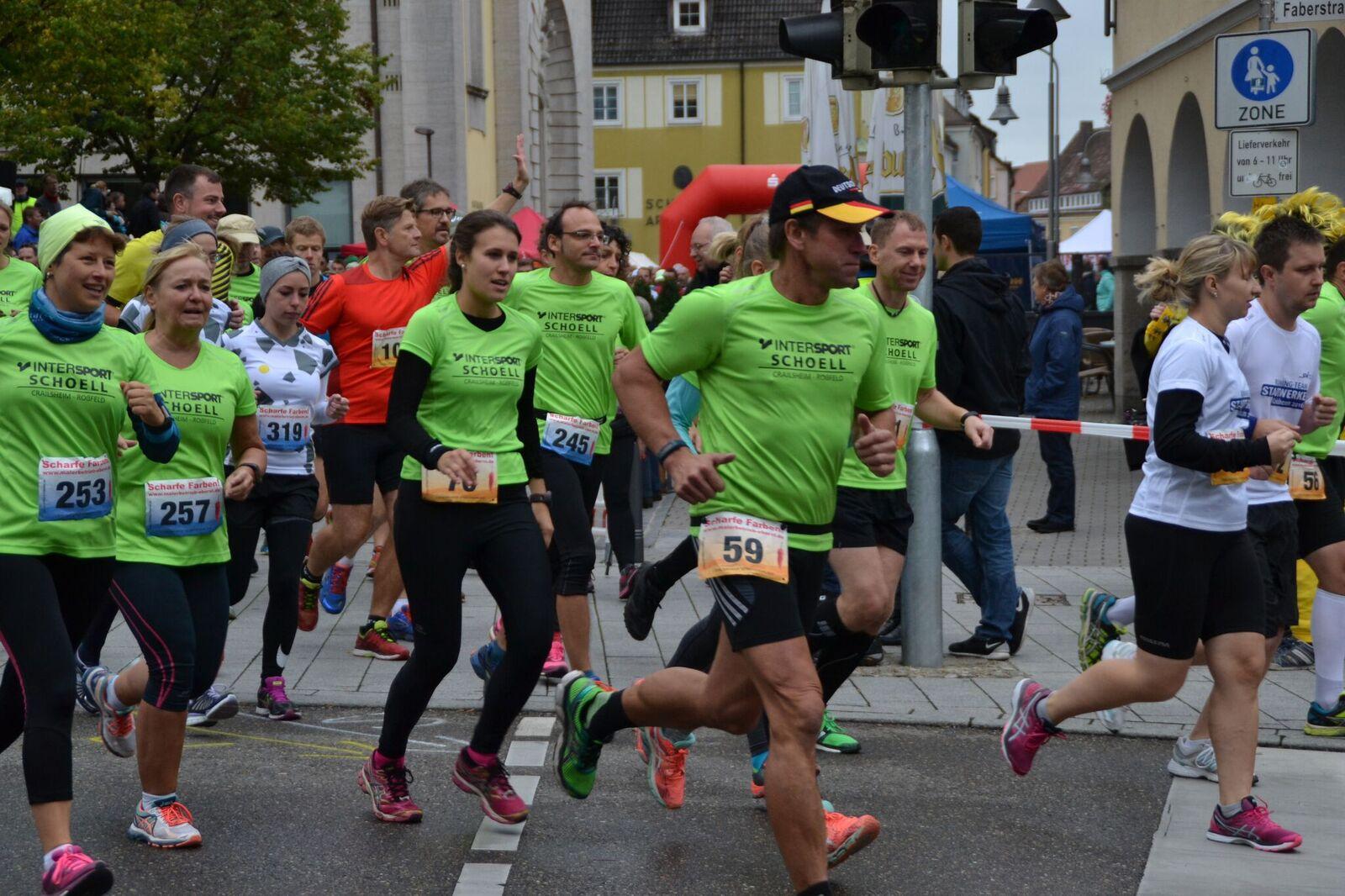 steide-runners auf der Strecke beim 7. Crailsheimer Sparkassenlauf