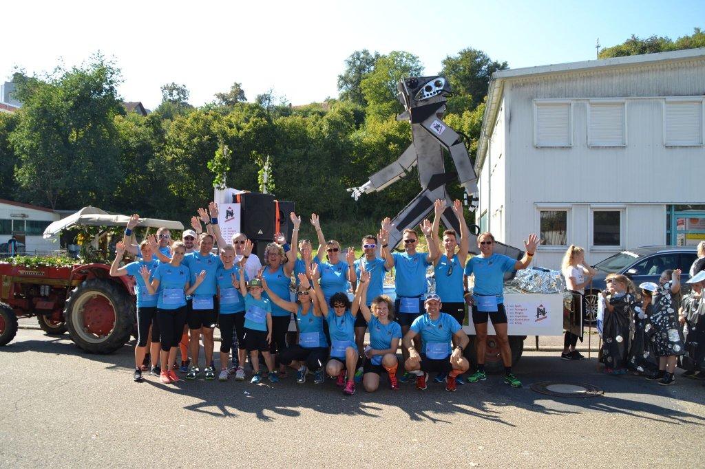 Gruppenbild steide-runners Herbstfestumzug 2016