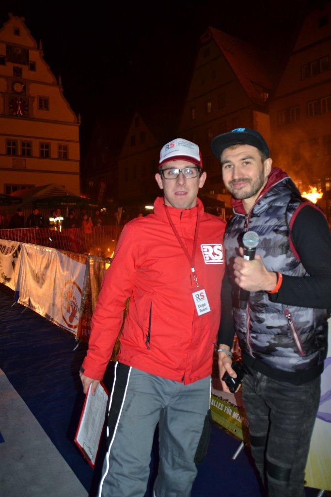 Veranstalter Sebastian Vorherr von Racesolution und Moderator Anton Reulow