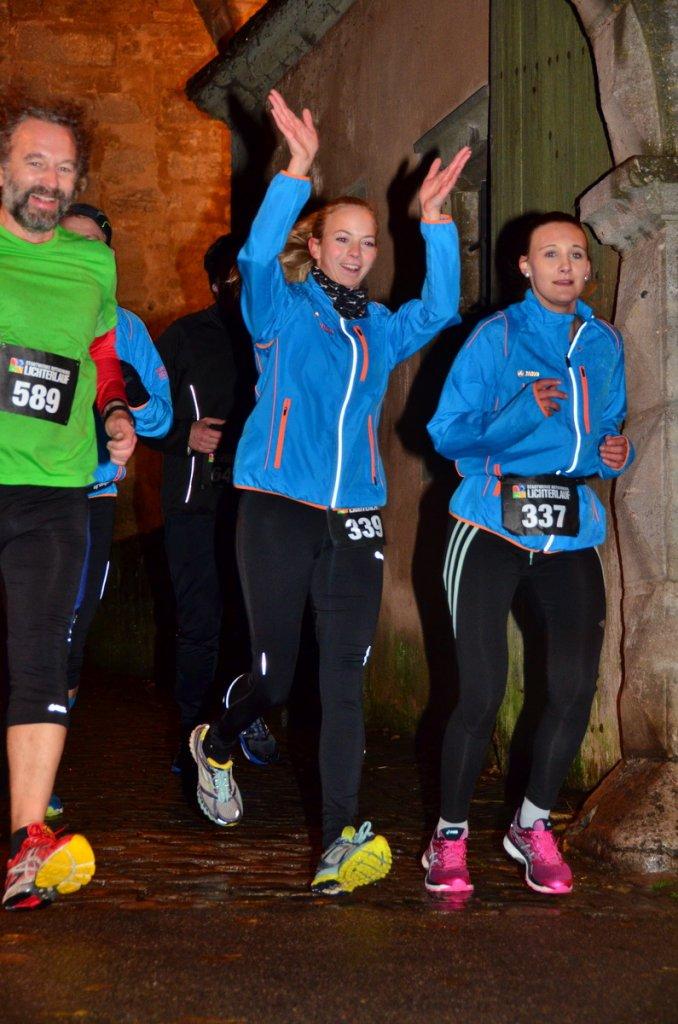 steide-runners beim 10. Stadtwerke Rothenburger Lichterlauf