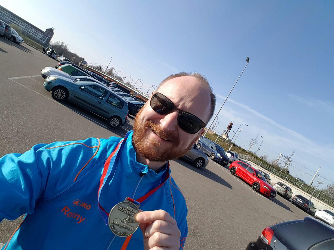 Ronny beim Wehr Venloop Halbmarathon in Holland