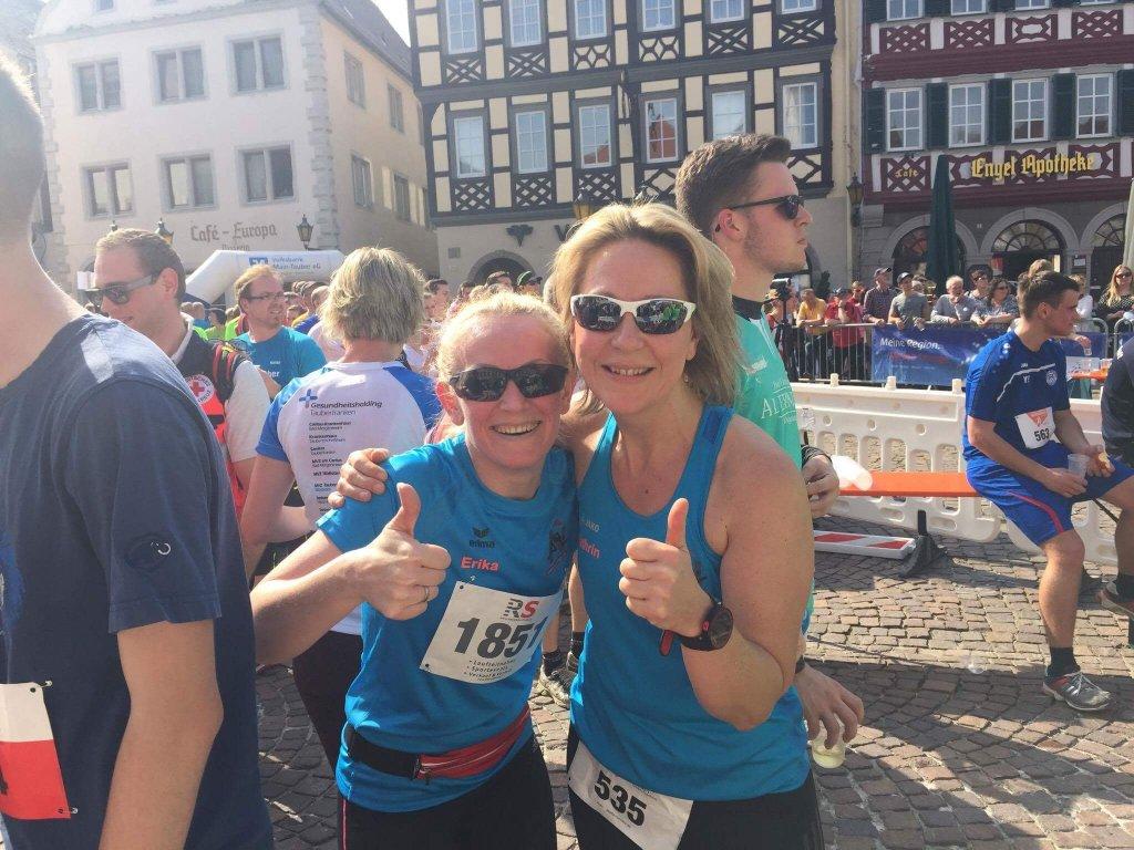 Erika und Kathrin beim Stadtlauf