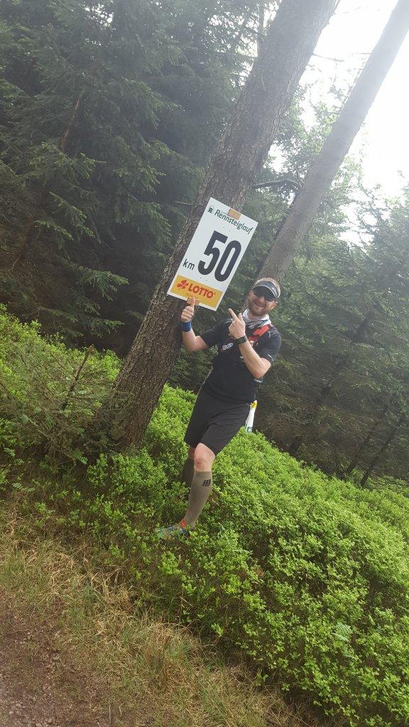 Ronny bei km50 des 45. GutMuths Rennsteiglauf