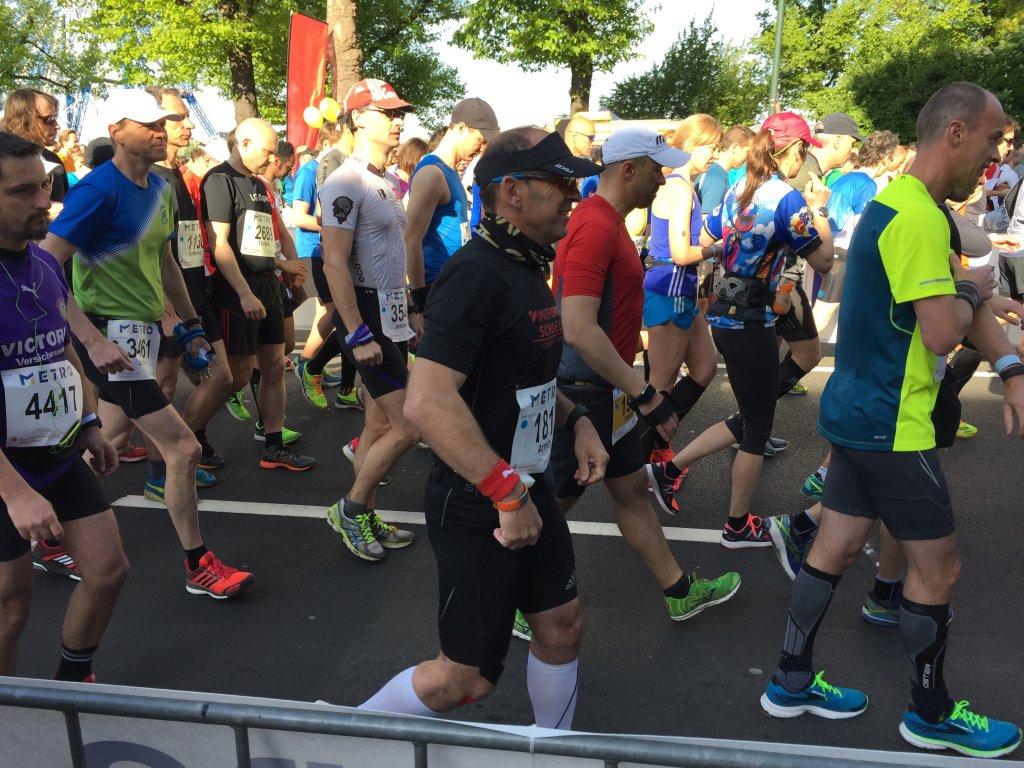 Armin beim Start des METRO Marathon Düsseldorf