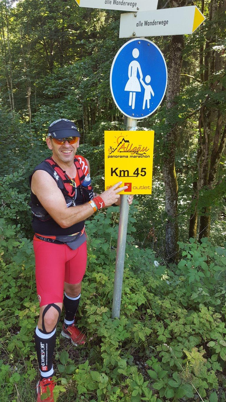 Armin bei km 45 beim Allgäu Panorama Marathon