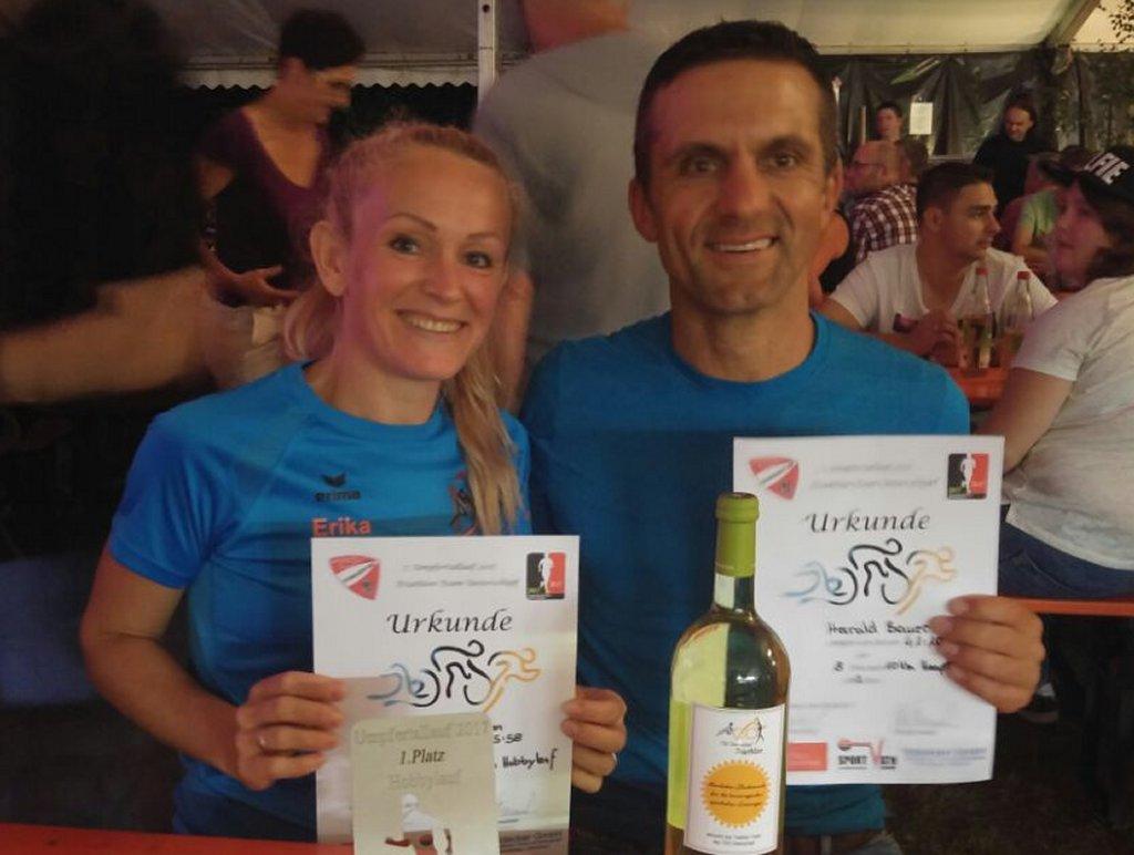 Erika und Harald beim 7. Umpfertallauf in Unterschüpf