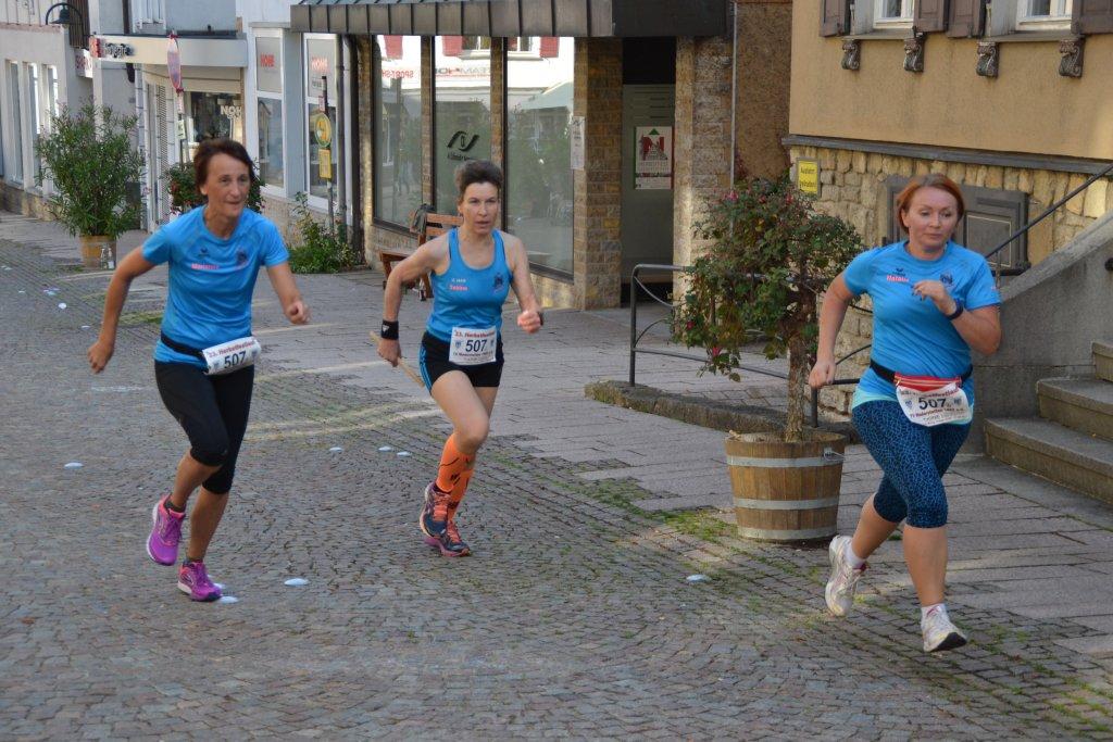 Gemeinsamer Zieleinlauf in Niederstetten
