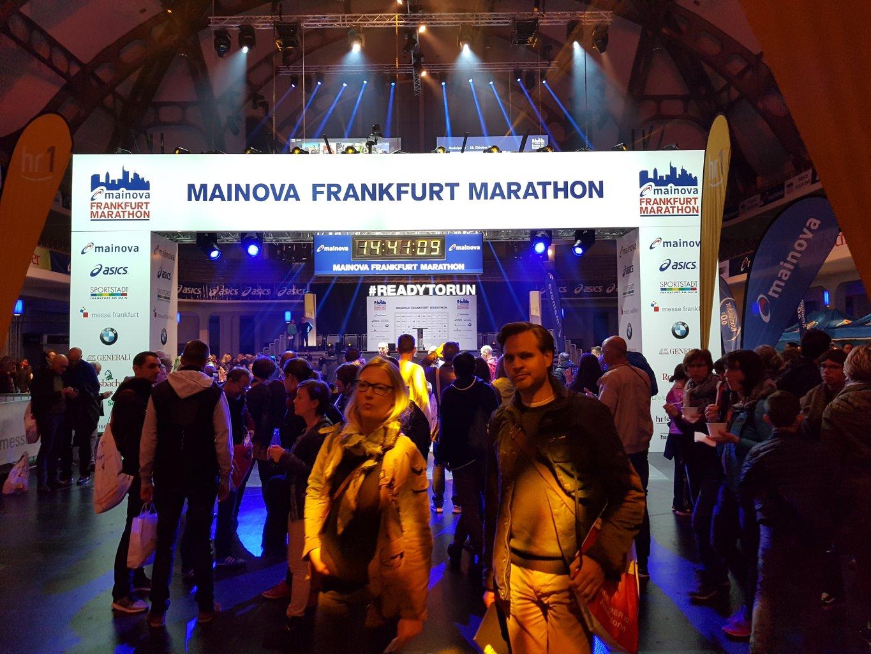 Messehalle / Zielbereich Frankfurt Marathon