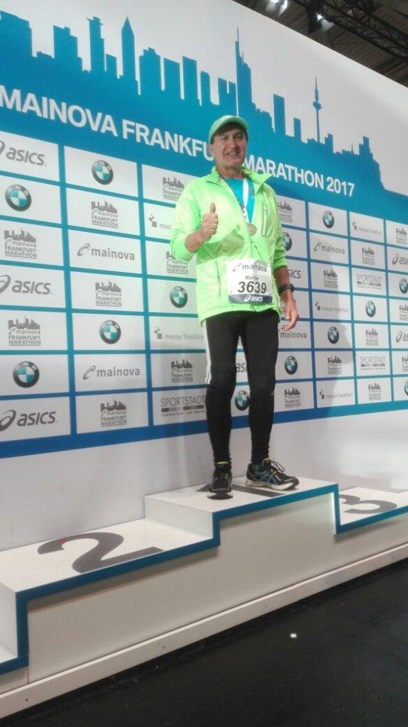 Rainer bei seinem ersten Marathon