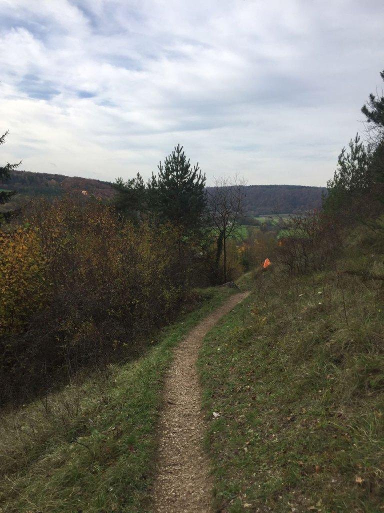 Laufweg beim Altmühltaltrail 2017