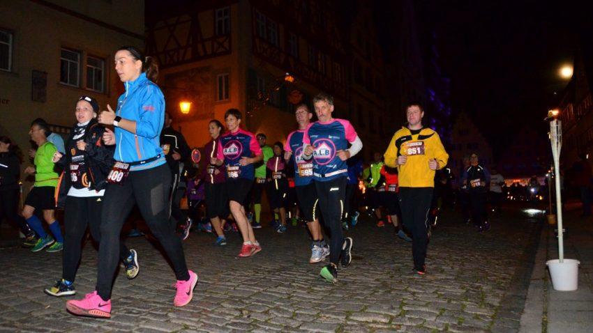 Tina beim Hauptlauf in Rothenburg