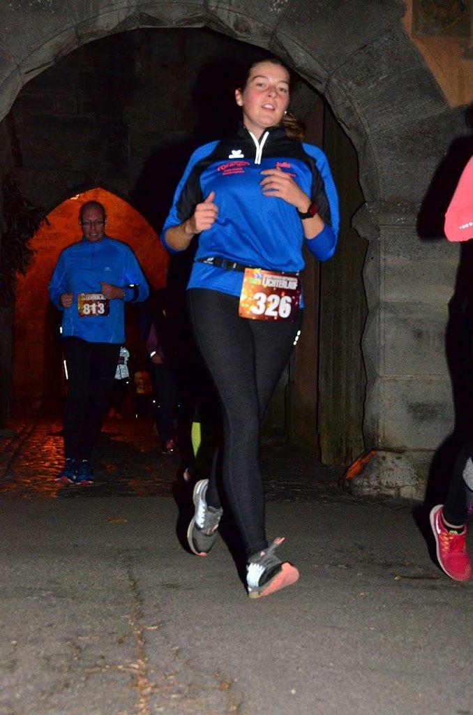 Julia beim 12. Stadtwerke Rothenburger Lichterlauf
