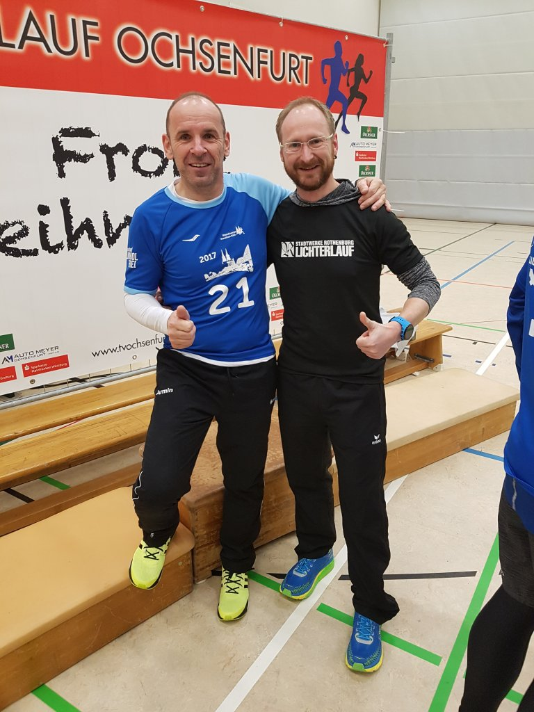 Rony Grosser und Armin Zipf beim Nikolauslauf Ochsenfurt 2017