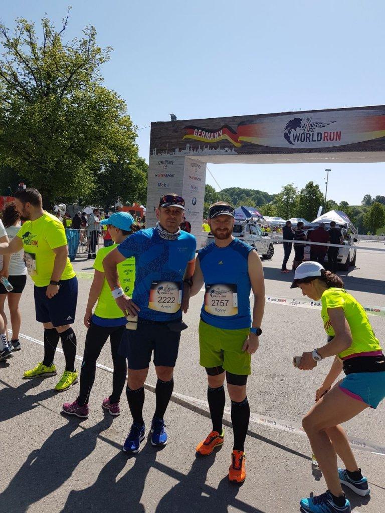Armin und Ronny beim 5. World For Life Run in München