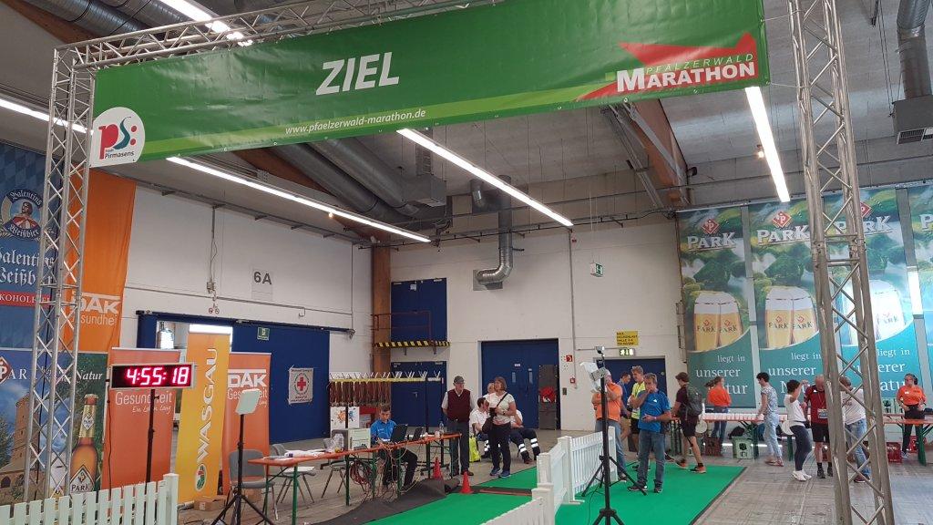 Zieleinlauf Pfälzerwald-Marathon