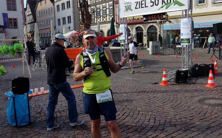 Armin nach 50km im Ziel