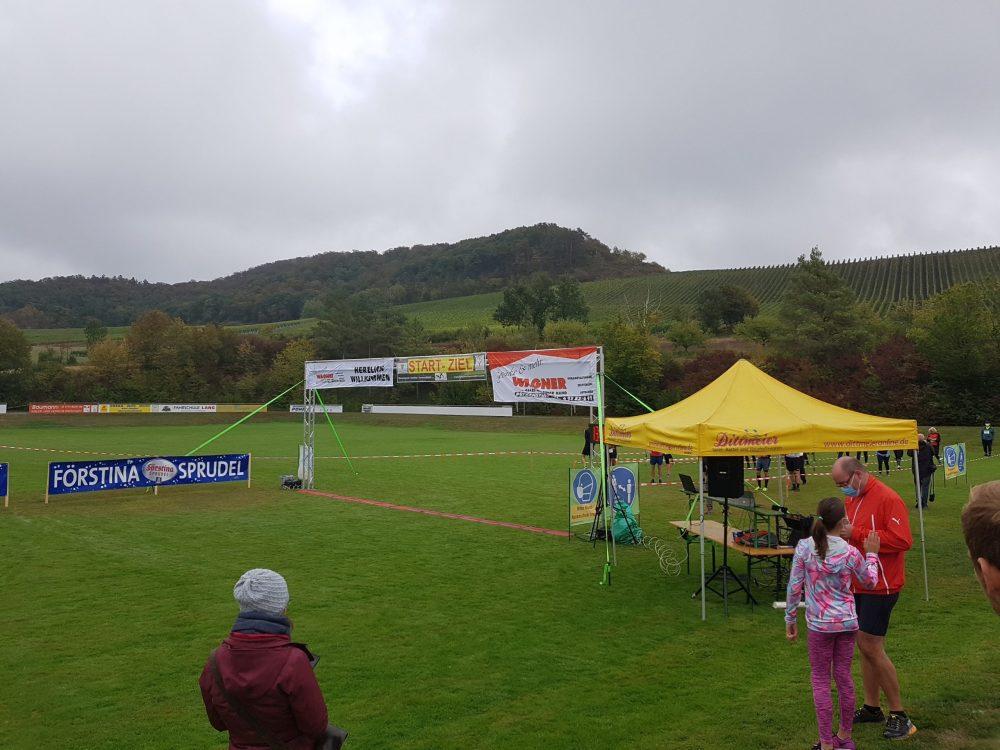 Start-Zielbereich Panorama-Baumwipfel Lauf